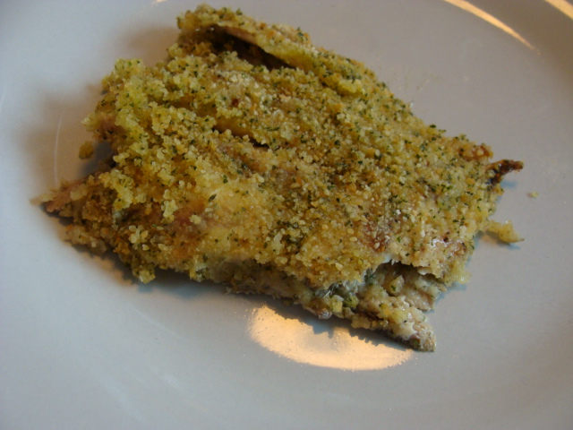 Acciughe gratinate