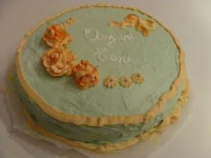 Torta decorata glassa reale