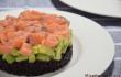 riso venere avocado salmone